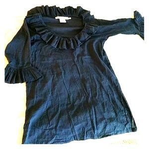 Navy Blue 100% Cotton Gretchen Scott Tunic